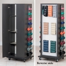 Clinica™ Cuff & Dumbbell Rack with Storage Cabinet