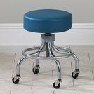 Clinica™ Chrome Base Stool