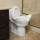 Locking Elevated Toilet Seat with Support Handles