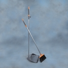 Long Handled Dust Pan & Broom with Ergo Handle