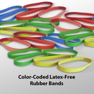 Color-Coded Latex-Free Rubber Bands