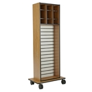 Multi-Purpose Storage Cart with Cabinet