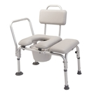 Padded Transfer Bench With Commode Accessories