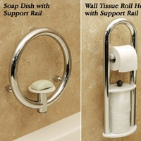 Grab Bars Invisia� Safety Enhanced Bathroom Accessories Accent Ring Grab Bar Whi