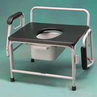 Commodes Heavy Duty Bariatric Drop Arm Commode 26 (66cm) Wide Seat up to 800 lb
