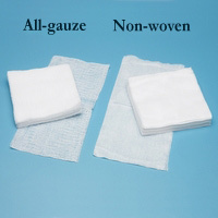 All-gauze, non-sterile sponges:Box of 200 3 x 3 (7.6 x 7.6cm) 12ply Each