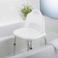 Bath & Shower Chairs Tool-Free Shower Chair 15-1/4 to 21 (39 to 53cm) 22 (56c