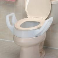 Fine Raised Toilet Seats Raised Toilet Seat With Arms Standard 300 Lbs 136Kg Each Frankydiablos Diy Chair Ideas Frankydiabloscom