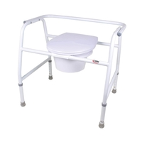 Commodes Extra-Wide Steel Commode Extra-Wide, 3 in 1, Bariatric Commode Each