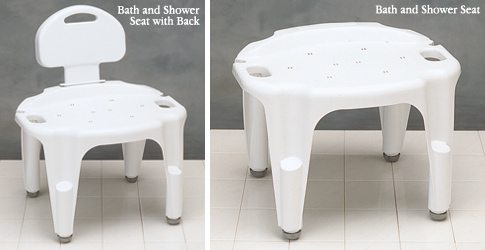 carex adjustable bath and shower seat - Shower Chair With Back