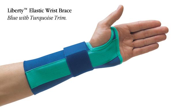 Liberty Elastic Wrist Brace Blue Amp Lavender North Coast