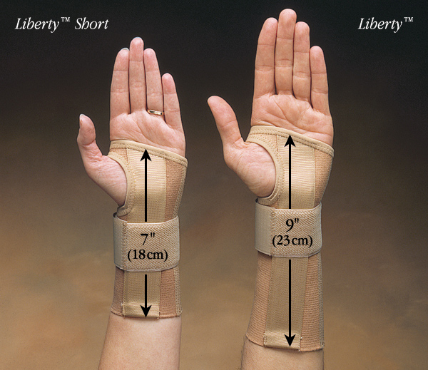 Liberty Elastic Short Wrist Braces North Coast Medical