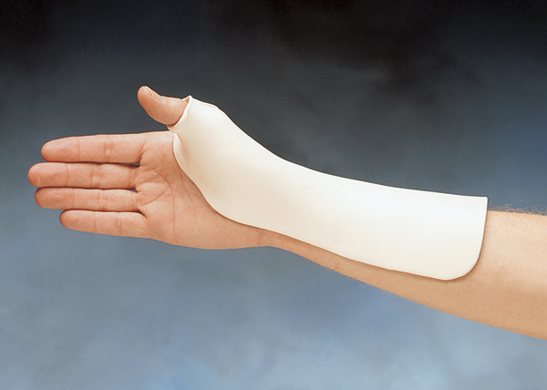 Radial Based Thumb Spica Precut Splint North Coast Medical