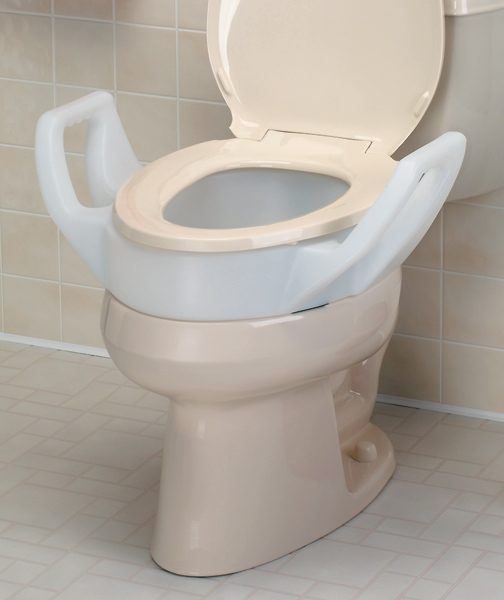 Raised Toilet Seat With Arms North Coast Medical