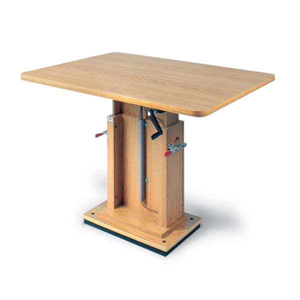 Hausmann® Work Table with Crank Hydraulic Lift | North Coast Medical