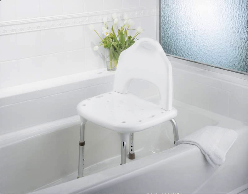 Tool-Free Shower Chair and Transfer Bench | North Coast Medical